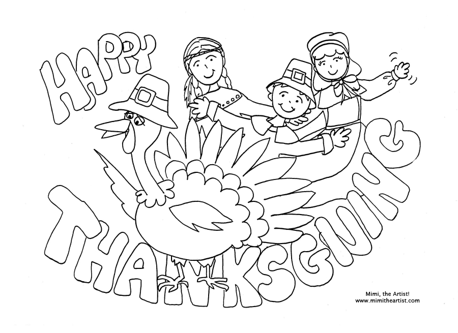 Thanksgiving Color Page to color in