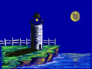 Lighthouse - an example of the finished drawing